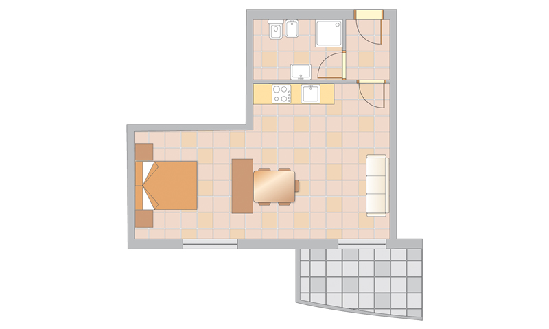 plan: APPARTEMENT MONO