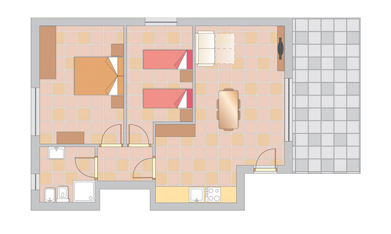 floor plan: APARTMENT TRILO LAKE AREA