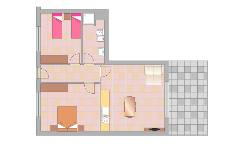 floor plan: APARTAMENT TRILO